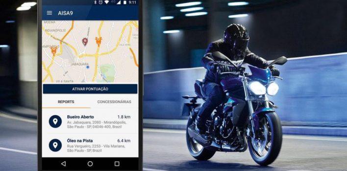 Aplicativo AISA9 avisa sobre riscos para motociclistas em SP