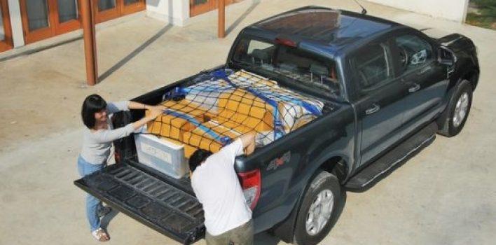 Aprenda a distribuir e amarrar a carga na caçamba da picape