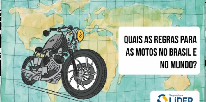 As regras para motociclistas no Brasil e no mundo