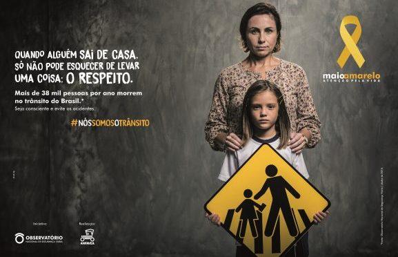 COMEÇA O MAIO AMARELO, MÊS DE PREVENÇÃO AOS ACIDENTES DE TRÂNSITO