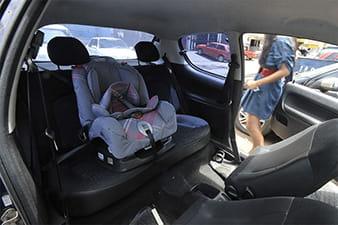 Detran explica transporte de crianças em veículos de aluguel