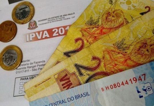 IPVA em São Paulo ficará 3,2% mais barato em 2018